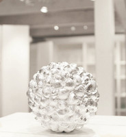 Silver Sea Shell Ball - Large