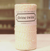 Bakers Twine -  Lemon & White