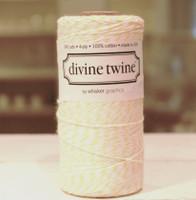 Bakers Twine -  Lemon & White
