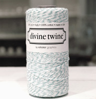 Bakers Twine - Aqua & White