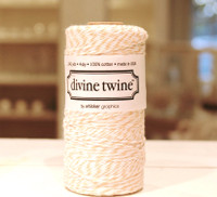 Bakers Twine - Peach & White