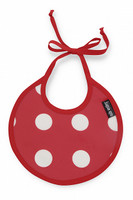 Bib -  Polka Dot Red