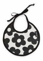 Bib - Flowers Black