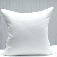 Ivory Linen Pillow Cover