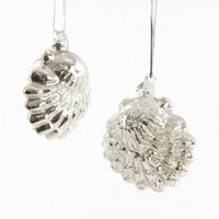 Sea Scallop Mercury Glass Ornament