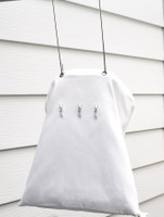 White Cotton Laundry Peg Bag