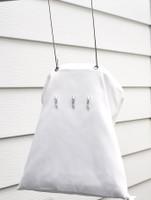 White Cotton Laundry Peg Bag
