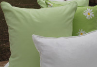 Light Lime Green Cotton Pillow Cover