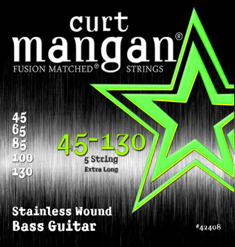 45-130 Stainless Wound 5-String Set