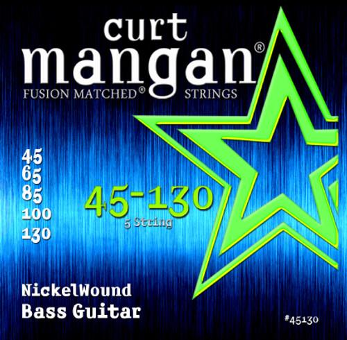 45-130 Nickel Wound 5-String Bass Set