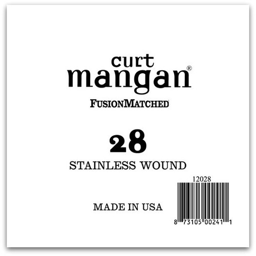 28 Stainless Wound Ball End Single String