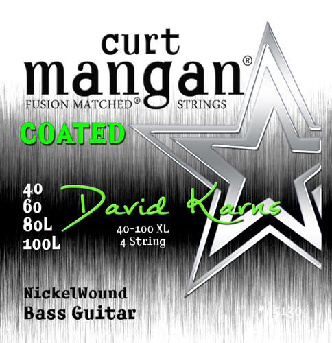 David Karns Coated 4 String Bass Set