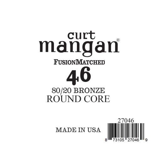 46 80/20 Bronze ROUND CORE Single String