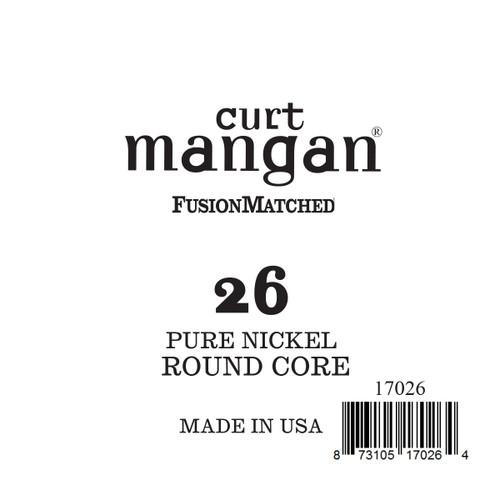 26 Pure Nickel ROUND CORE Single String
