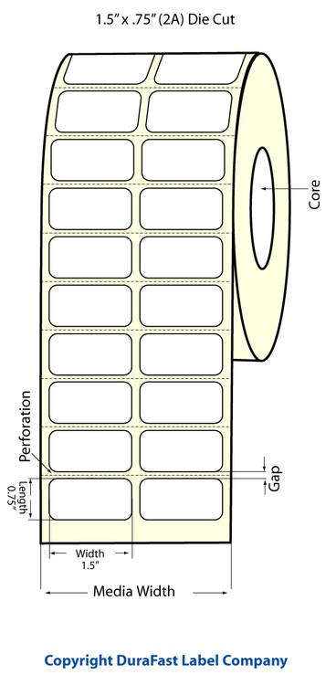 """Epson TM-C3500 1.5"""" x 0.75"""" Matte Labels"""