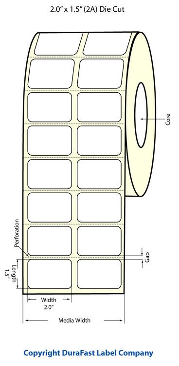"""Epson TM-C3500 2"""" x 1.5"""" Matte Labels"""