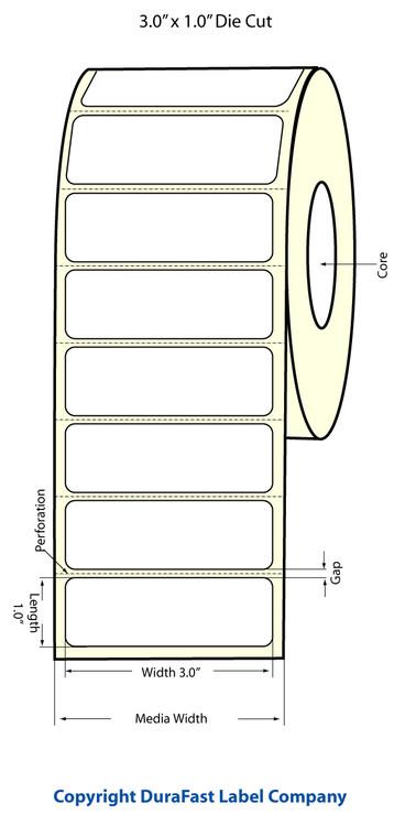 """Epson TM-C3500 3"""" x 1"""" Matte Labels"""