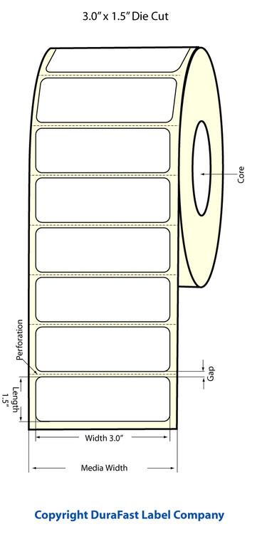 """Epson TM-C3500 3"""" x 1.5"""" Matte Labels"""