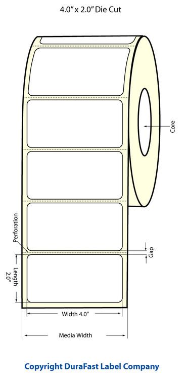 """Epson TM-C3500 4"""" x 2"""" Matte Labels"""