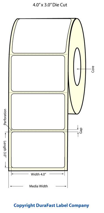 """Epson TM-C3500 4"""" x 3"""" Matte Labels"""
