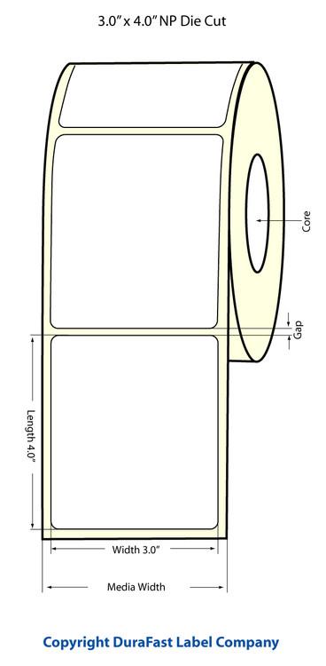 """Epson TM-C3500 3""""x4"""" Matte Labels"""