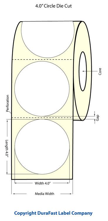 """Epson TM-C3500 4"""" Matte Circle Labels"""