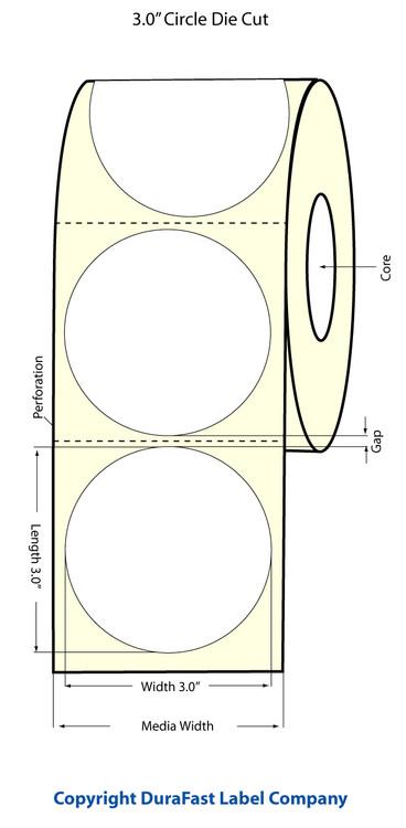 """Epson TM-C3500 3"""" Matte Circle Labels"""