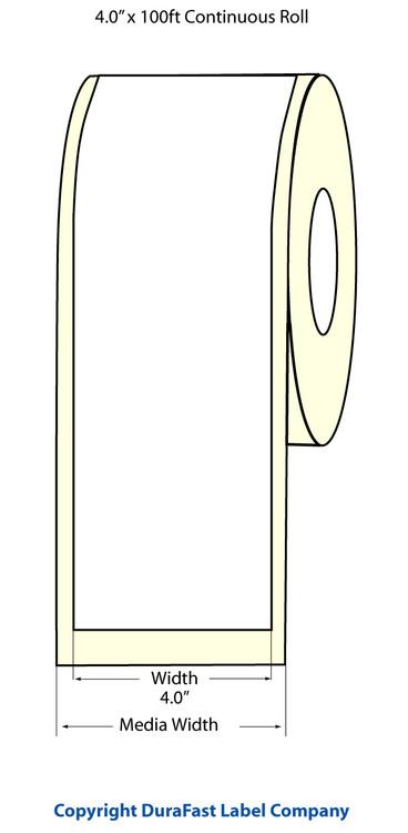 "Epson TM-C3500 4"" x 100 Feet Matte BOPP Labels"