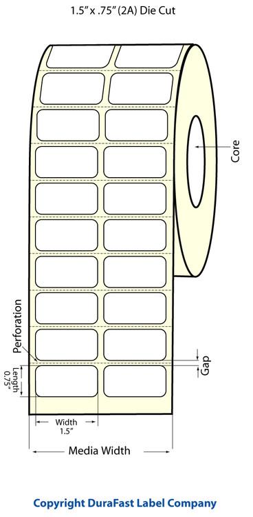 "Epson TM-C3500 1.5"" x 0.75"" Matte Polypropylene Labels"