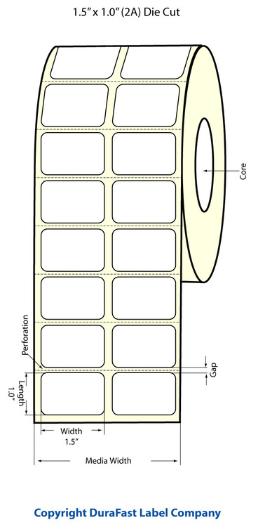 Epson TM-C3500 1.5 x 1 Matte Polypropylene Labels