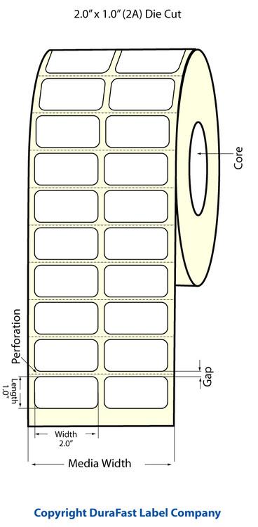 "Epson TM-C3500 2"" x 1"" Matte Polypropylene Labels"