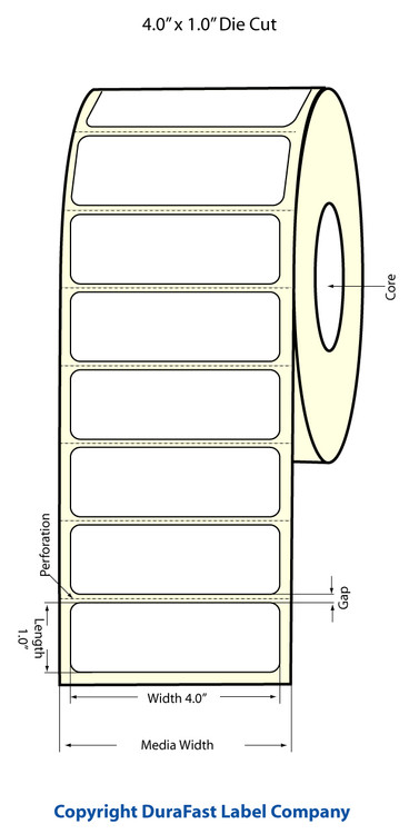 "Epson TM-C3500 4"" x 1"" Matte Polypropylene Label"