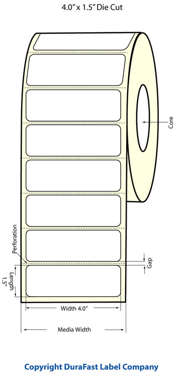 "Epson TM-C3500 4"" x 1.5"" Matte Polypropylene Labels"