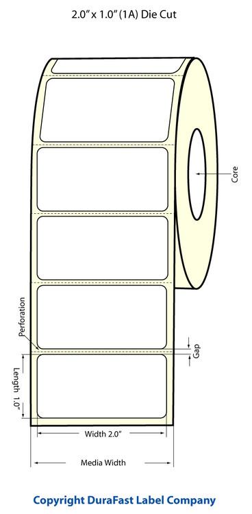 "Epson TM-C3500 2"" x 1"" Matte Polypropylene Labels (1AC)"
