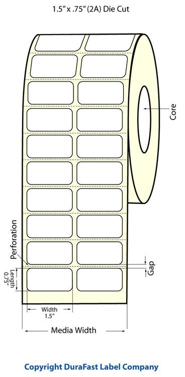 "Epson TM-C3500 1.5"" x 0.75"" Chemical Labels"