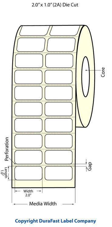 "Epson TM-C3500 2"" x 1"" Chemical Labels"