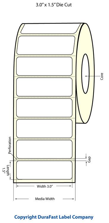 "Epson TM-C3500 3"" x 1.5"" Chemical Labels"