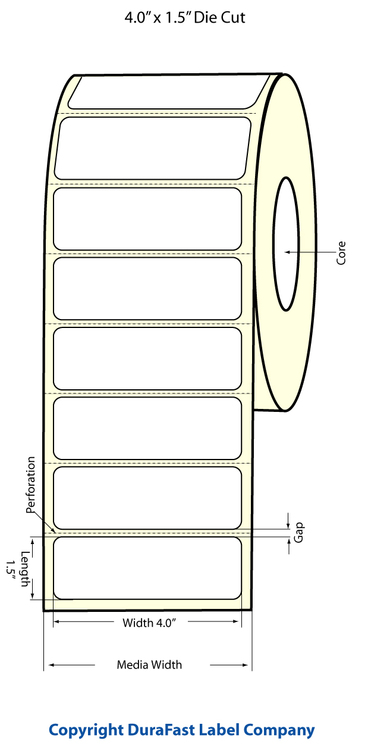 "Epson TM-C3500 4"" x 1.5"" Chemical Labels"