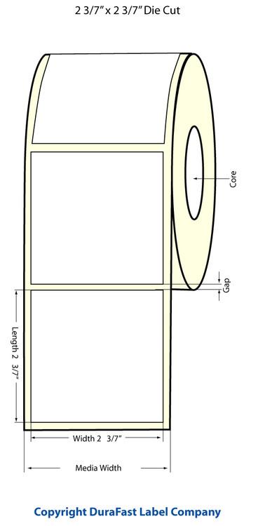 "Epson TM-C3500 2 3/7"" x 2 3/7"" Chemical Labels"