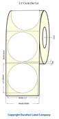 """LX400 2.5"""" Circle White Matte Polypropylene Labels 923003"""