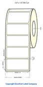 "LX400 3""x1"" White Glossy Polypropylene (BOPP) Labels"