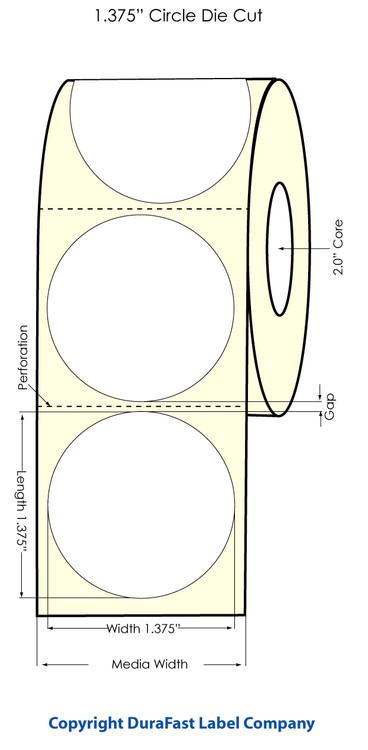 Primera LX400 1.375 inch Circle High-Gloss Labels | 74716