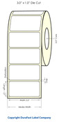"LX400 3""x1"" White High Gloss Labels 1400/roll - 74724"