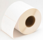 "LX400 2""x8"" White Gloss Polyester Labels 250/roll-75845"