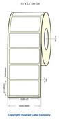 """LX400 3""""x2.5"""" White Matte Polypropylene Labels 763/Roll - 75892"""