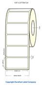 """LX400 4""""x2"""" White Matte Polypropylene Labels 943/Roll - 75893"""