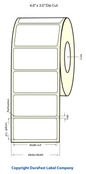 """LX400 4""""x3"""" White Matte Polypropylene Labels 641/Roll - 75894"""