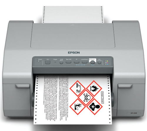 Epson GP-C831 GHS Label Printer using Pigment Inkjet technology from Epson C11CC68A9971