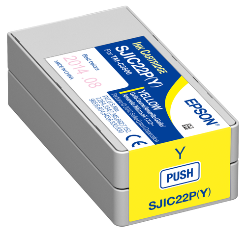 Epson TM-C3500 Yellow Pigment Ink Cartridge|CJIC22P| Epson Ink Cartridges