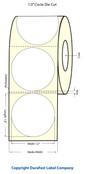 "Primera LX400 1"" Circle Matte Label Stock | 1600 Labels/Roll"